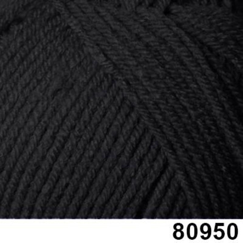 Himalaya 100g Ceylan DK Wool Yarn Knitting Anti-Pilling Acrylic Worsted 80950 Black