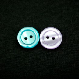 Two Tone Curve Dish 17mm Acrylic Plastic Buttons