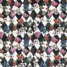 100% Cotton Fabric Digital Alice In Wonderland Harlequin 140cm Wide Crafty