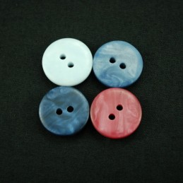 Royal Style Metallic 15mm Acrylic Plastic Buttons