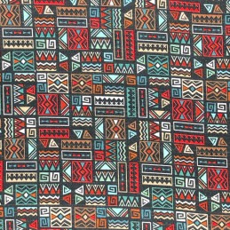 Aboriginal Geometric Black