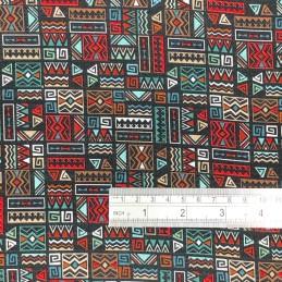 Aboriginal Geometric Black Scale
