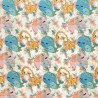 100% Cotton Fabric Harmony Whale Elephant Giraffe Carousel 140cm Wide Crafty