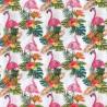 100% Cotton Fabric Tropical Flamingo Toucan Pineapple Hawaii 140cm Wide Crafty