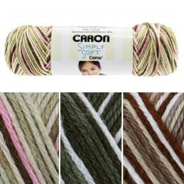 113g Ball Caron Simply Soft Camo Aran Yarn Knitting Crochet Crafts