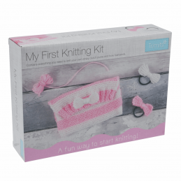 Trimits My First Knitting Kit: Clutch Bag & Hairbands