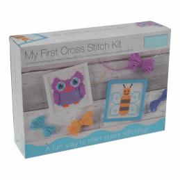 Trimits My First Cross Stitch Kit: Owl & Bee Designs