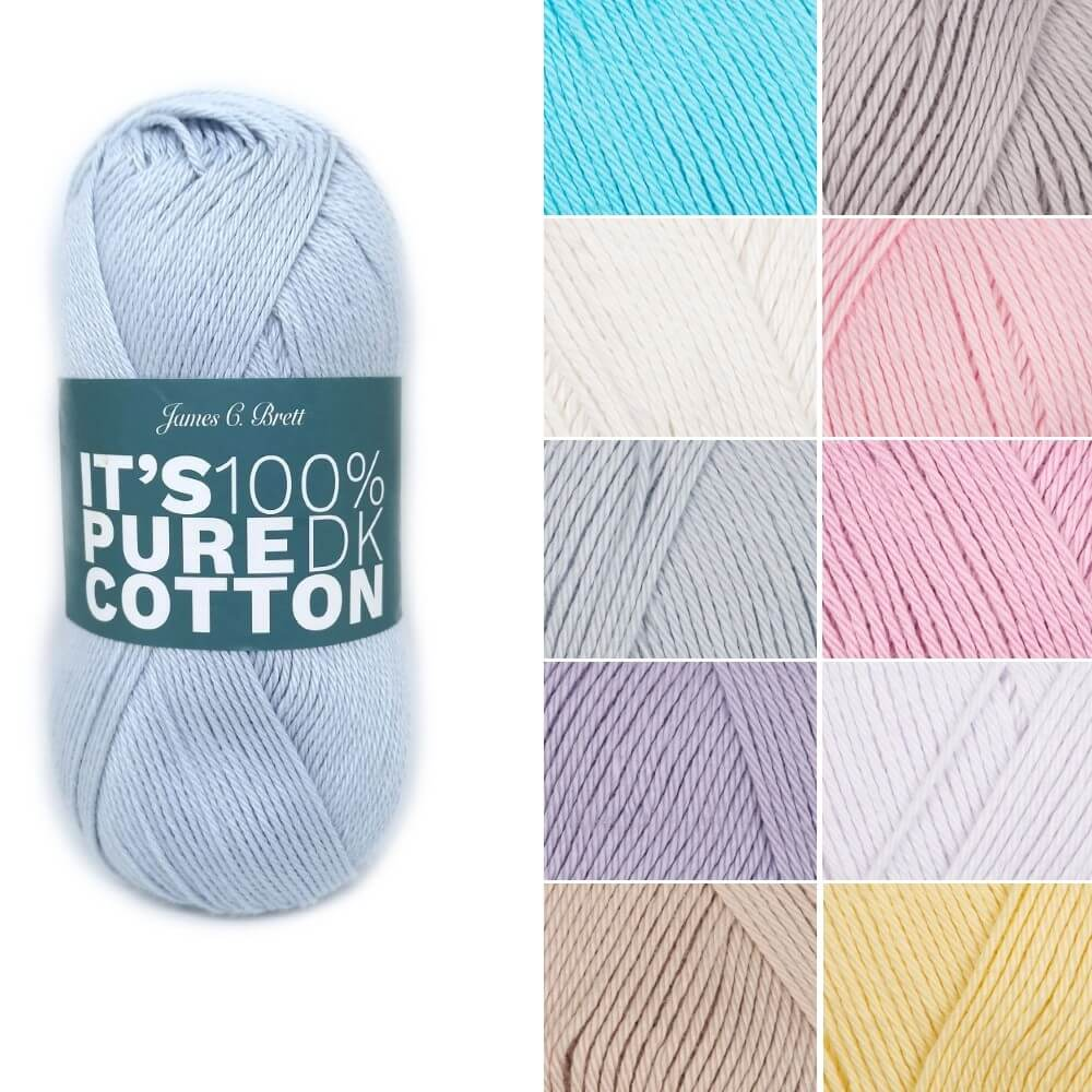 James C Brett It's Pure Cotton DK Double Knitting Crochet Craft Yarn IC01