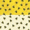 100% Cotton Poplin Fabric Rose & Hubble Buzzy Bumble Bees Honeycomb Insect