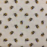 Cotton Rich Linen Linen Fabric Digital Bumble Bee Or Panel Upholstery