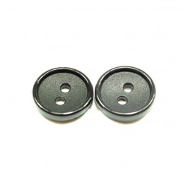 Classic Style Textured Center 14mm Acrylic Plastic Buttons