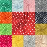 100% Cotton Fabric 8mm Polka Dots Spots 140cm Wide Crafty