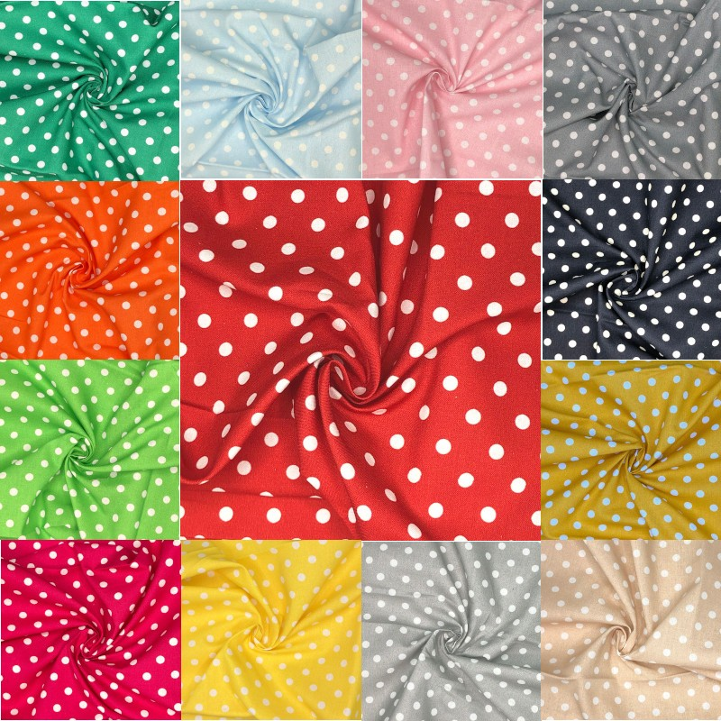 100% Cotton Fabric 8mm...