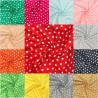 100% Cotton Fabric Small Stars Star Coloured Background 140cm Wide Crafty
