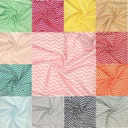 100% Cotton Fabric Chevron Zig Zag Lines 140cm Wide Crafty