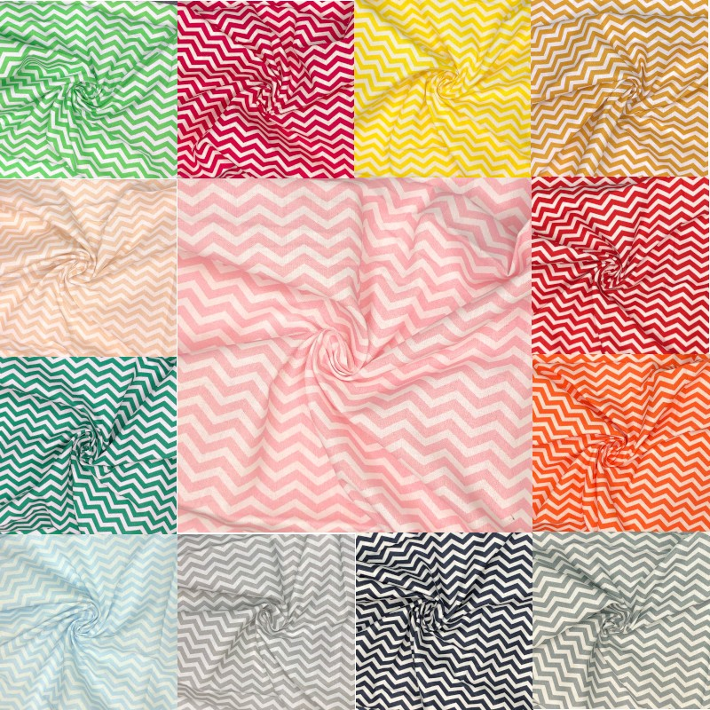 100% Cotton Fabric Chevron...