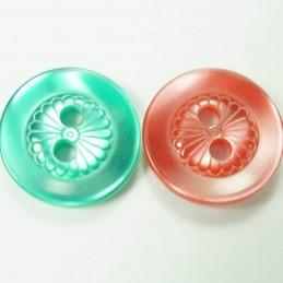 Mini Daisy Dish 13mm Acrylic Plastic Buttons