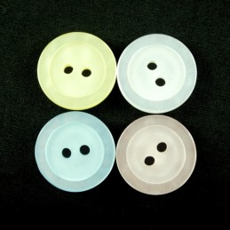 20 x Classic Style Metallic Dish 12mm Acrylic Plastic Buttons