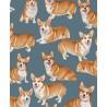 100% Cotton Fabric Timeless Treasures Pembroke Welsh Corgi Dog