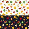 100% Cotton Poplin Fabric Rose & Hubble Mini Fruit Mix Spots Melon