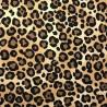 100% Cotton Poplin Fabric Rose & Hubble Leopard Skin Beige Print Safari