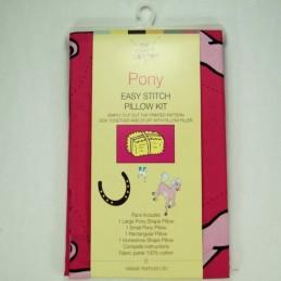 Pony Easy Stitch Pillow Kit Panel 100% Cotton