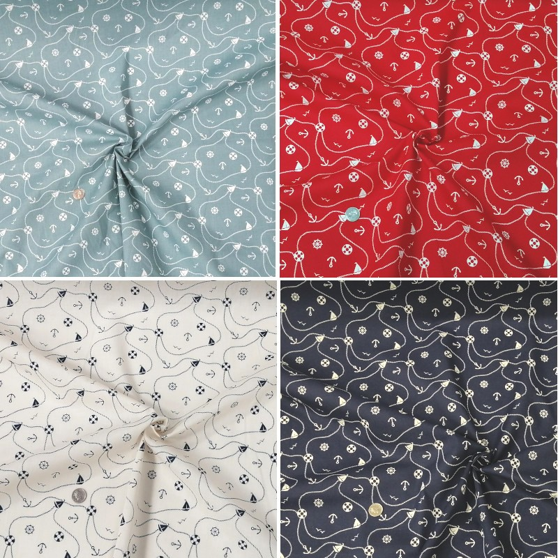Polycotton Fabric Nautical...