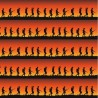 100% Cotton Fabric Kennard & Kennard Marching Soldiers Sunset In Line