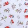 100% Cotton Fabric Beatrix Potter Tale of Peter Rabbit Tour Of London Streets
