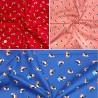100% Cotton Poplin Fabric Birds Puffin Sailors Top Hats And Wellies Animals