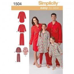Easy To Sew Child And Adult Loungewear Fabric Sewing Patterns 1504