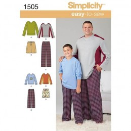 Easy To Sew Tall Boy's And Men's Loungewear Fabric Sewing Patterns 1505