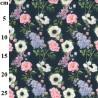 100% Cotton Fabric John Louden Floral Rose Lavender Flower Love Lane 150cm Wide