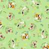 100% Cotton Fabric Nutex Willow Woodland Animals Fox Rabbit Bird