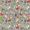 100% Cotton Fabric Nutex Willow Woodland Animals Fox Rabbit Bird Floral