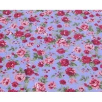 flowers floral roses polycotton fabric